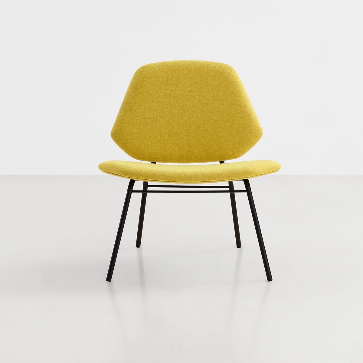 fauteuil lean jaune moutarde sur commande. Black Bedroom Furniture Sets. Home Design Ideas